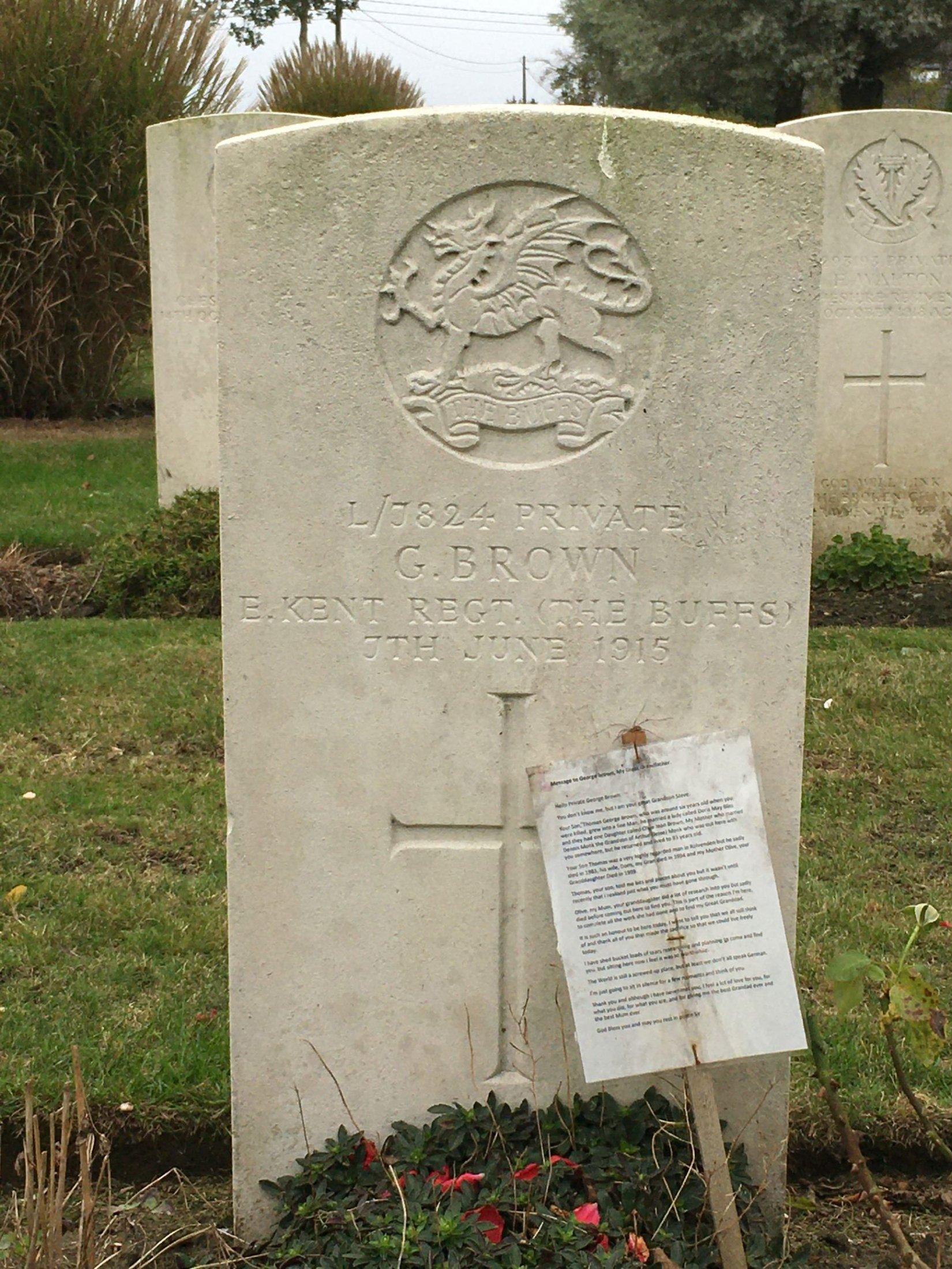 Great Grandad George Browns Grave
