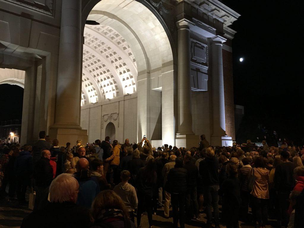 Menin Gate Crowd 8pm