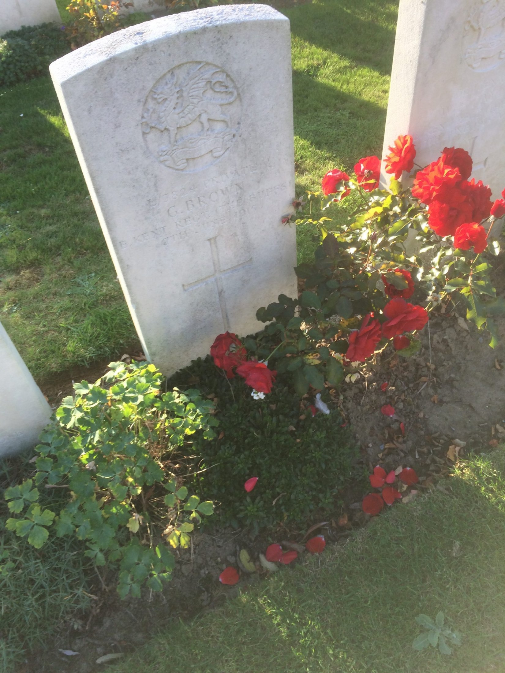 Pte George Brown Grave 2018