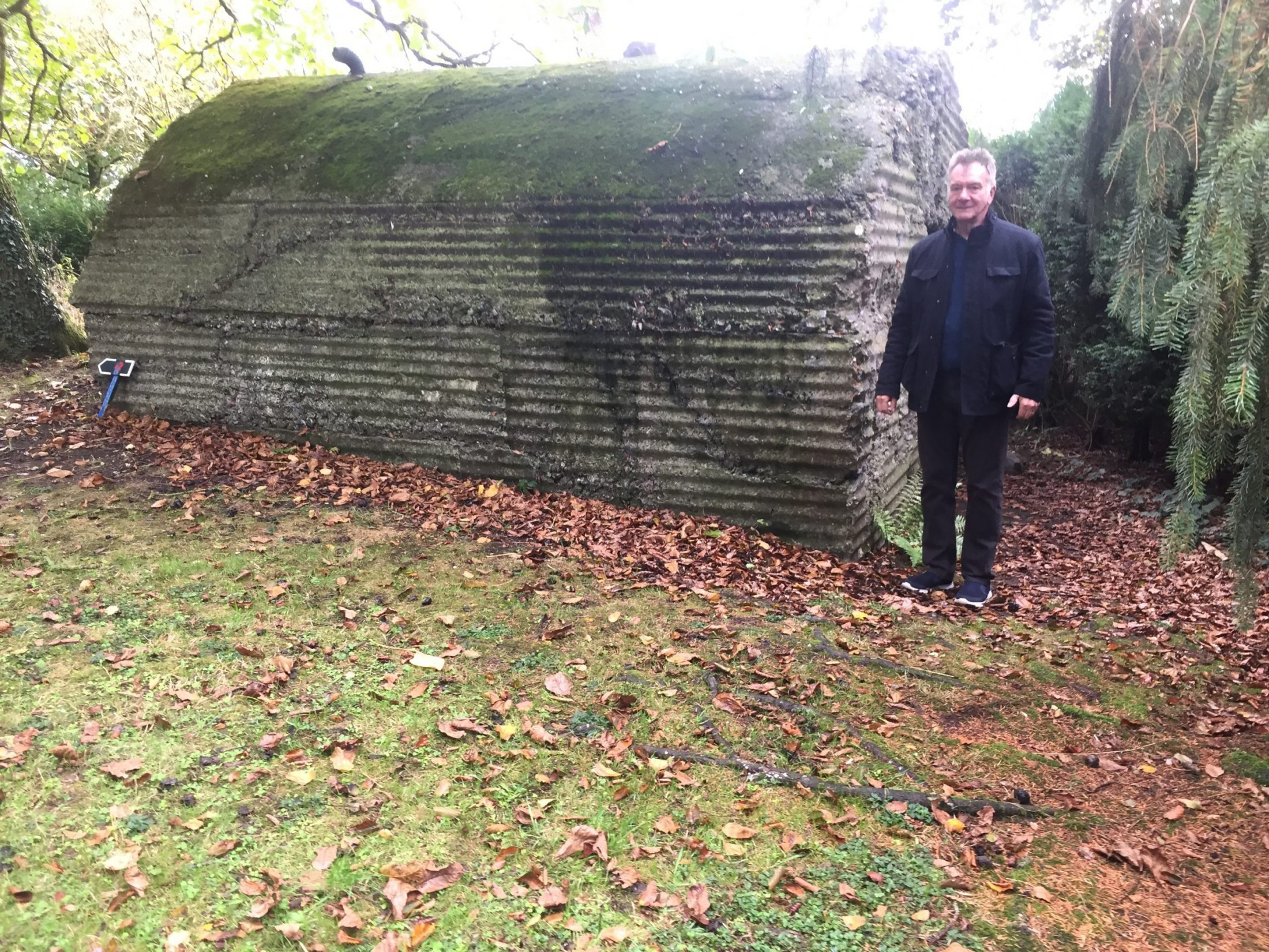 Steve by Bunker entrance