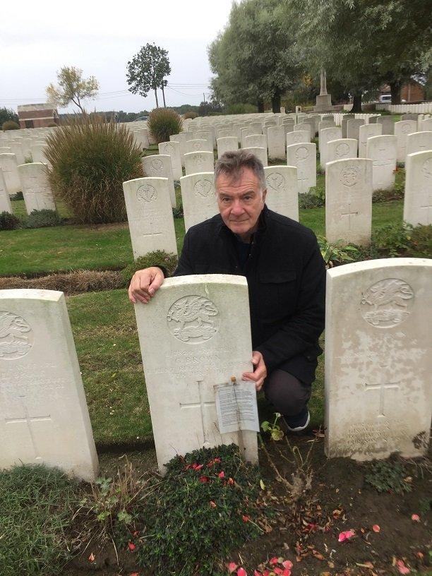 Steve - George Browns Grave 2019