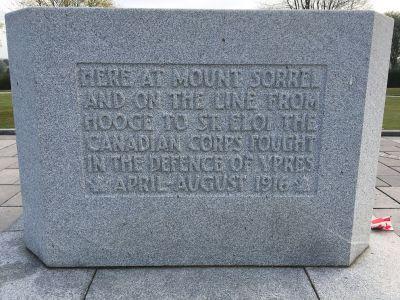 Canadian Memorial Inscription Hill 62