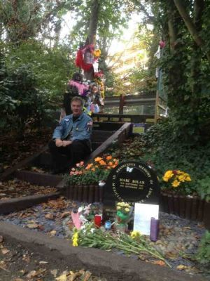 At Marc Bolan's Shrine