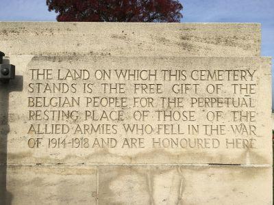Inscription on Perth Cemetery Gate Post