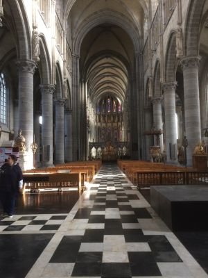 Inside St Martins Cathederal All Rebuilt After Being Flattened During WW1
