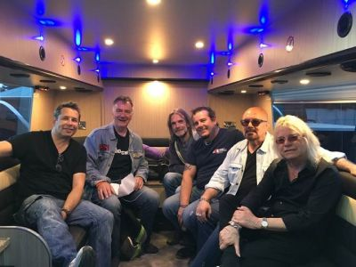Steve on the Magnum Tour Bus 2018