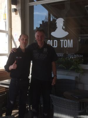 Steve With One Of The Waiters At The Old Tom Hotel In Ypres Square